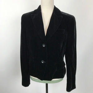 INC Black Velvet Rayon & Silk Blend Blazer